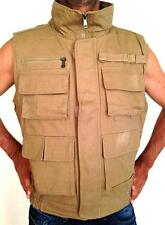 NEW Mens  Fishng Climbing Hunting Travel Outdoor Waterproof Vest sz S~2XL KHAKI