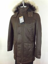 Andrew Marc NWT Saddle-Brown  Men's jacket w Removable hood /Thermormore
