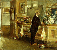 FREDERICK CHILDE HASSAM McSorley's Bar american CUSTOMER standing SEE our SHOP
