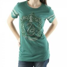 Harry Potter Slytherin Crew Athletic Jersey Juniors T-shirt - Green