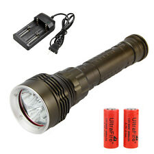 Rechargeable 8000Lm 5x CREE XM-L2 LED Scuba Diving Flashlight Torch Light 26650