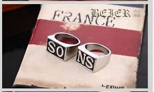 "NEW HOT Alloy Sons of Anarchy season RING 1 SET of 2 psc ""SONS"" Words"