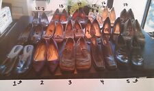 17 PAIRS SOLD EACH - USED Womens Size 11 Shoes Heels Casual Sexy Strappy & Flats
