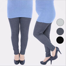 Womens Plus Size XL 3X 5X Warm Thicken Acrylic Full Ankle Length Leggings Pants