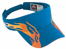 Flame Pattern Brushed Cotton Twill Sandwich Sun Visor 96-541