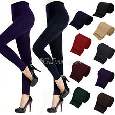 Women Winter Warm Skinny Slim Leggings Footless Thick Tights Stretch Pants
