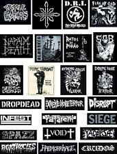 PUNK PATCHES agathocles napalm death disrupt infest haemorrhage void yacopsae