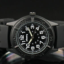 Infantry Tachymeter Army Sport Military Black Rubber Mens Quartz Wrist Watch