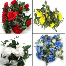 """New 72"""" 6ft Fake Artificial Silk Roses Garland Wedding Flowers Party Home Decor"""