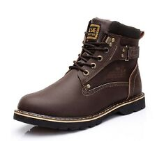 New Large Size Outdoors Men Cotton Shoes Genuine Leather Winter Men's Snow Boots