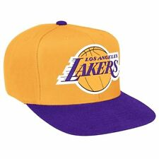 LOS ANGELES LAKERS Mitchell & Ness Snapback Cap NBA Adjustable Hat Yellow LA