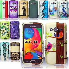 FOR Samsung Galaxy Avant G386 HARD RUBBERIZED CASE COVER SNAP ON DESIGN NEW