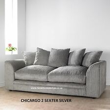 Chicargo Jumbo Cord 3 + 2 Seater Sofa Group - Various Colours and Combinations