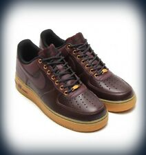 "Mens Nike Air Force 1 Low ""Winter Pack"" -  Deep Burgundy/Light Brown  488298-621"