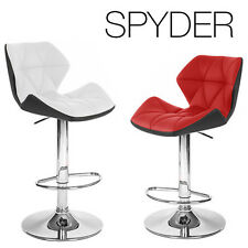 "NEW MODERN ""LEATHER"" BAR/COUNTER STOOL ADJUSTABLE TWO-TONE SPYDER BARSTOOL"