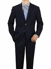 Luciano Natazzi Men's Modern Fit Two Button Faint Tone On Tone Stripe Suit