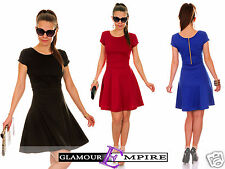 Short Sleeve Tailored Skater Jersey Dress  UK8-16•US6-14•EU36-44  MADE IN EU 568