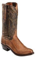 Lucchese M1618 R4 Mens Tan Burnished Ostrich Leg Western Cowboy Boots