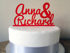 Personalised Custom Made Wedding Cake Topper names date table decoration plastic