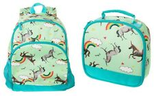 Crazy 8 by Gymboree Girl's Unicorn Backpack and Lunchbox School Set, Mint Multi
