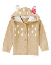 NWT Gymboree FAIRY TALE FOREST Size 2T 3T 4T 5T Fawn Hooded Cardigan Sweater