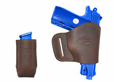 NEW Barsony Brown Leather Yaqui Holster + Mag Pouch Colt 380 UltraComp 9mm 40 45