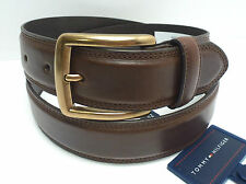 TOMMY HILFIGER Men's Leather Belt *Brown w/ Gold Buckle* Size 32 34 36 38 40 42