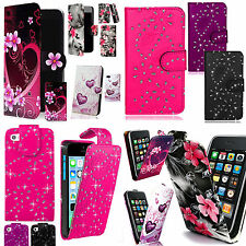 Patterned PU Leather Case Cover Wallet Flip for iphone 4 + Free Stylus