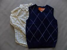NWT Boy's Gymboree Spring Dressy yellow long sleeve shirt sweater vest ~ 5T 5 6