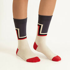 Ballonet Socks Colorful Gray Red White Geometric Layer Up Combed Cotton Socks