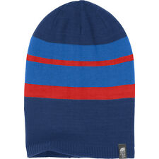 $30 NWT The North Face Reversible Crag Blue Beanie Hat Sz OSFA