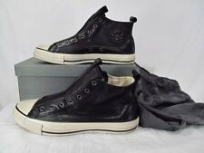 Converse John Varvatos Slip On Leather Mid Sneaker BLACK Chuck Taylor 127961C
