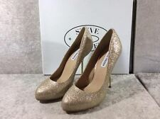 "Steve Madden Myley Gold Glitter Stiletto 5"" Heels."
