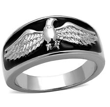 Men's New Non Tarnishing Stainless Steel Winged American Eagle Ring - Sizes 8-13
