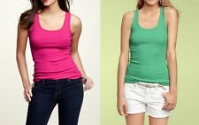 GAP Women's Cotton Blend Classic Ribbed Tank Pink or Green, Sizes XS - M