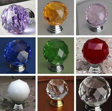 Popular Round Glass Door Knob Drawer Pull Handle Cabinet Kitchen Handle Wardrobe