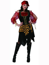 Adult Woman 10-26 Pirate Lady Outfit Fancy Dress Costume Caribbean Party Wench