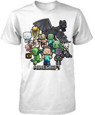 Minecraft Party Characters Licensed Youth Kids White T-Shirt