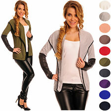 Glamour empire femmes wet look manches Large Châle Blazer Cardigan 103