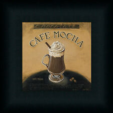 Café Mocha by Lisa Audit Coffee Kitchen Sign Framed Art Print Wall Décor Picture