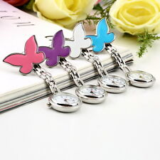Cute Pendant Butterfly Nurse Clip-on Brooch Quartz Hanging Pocket Watch New SU