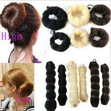 Hot Sale 2pcs Womes Different Sizes Elegant Magic Style Buns Hair Accessories
