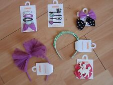 NWT GIRLS GYMBOREE POSH AND PLAYFUL HEADBAND, HAIR CLIPS, U PICK!!