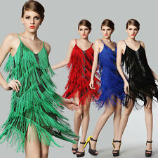 CHEAP SALE~SEXY HOT Lady Fringe Vintage Latin Dancing Ballroom Club Tassel Dress