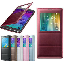 Luxury S-View Flip Smart Leather Case Cover for Samsung Galaxy Note 4 Salable