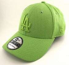 NEW ERA - 39THIRTY FITTED CAP. TONAL DIAMOND LOS ANGELES DODGERS. LIME GREEN