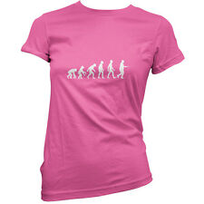 Evolution Of Man Egg and Spoon - Womens / Ladies T-Shirt - Sports Day - School