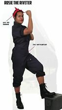 Women's Rosie The Riveter Halloween Costume - Adult Woman Military Uniform Dress
