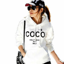 Korea Fashion Womens COCO Casual Hoodie Jacket Coat 2 Colors White/Grey