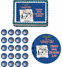 DIARY OF A WIMPY KID Edible Birthday Cake Topper Cupcake Image Party Decoration